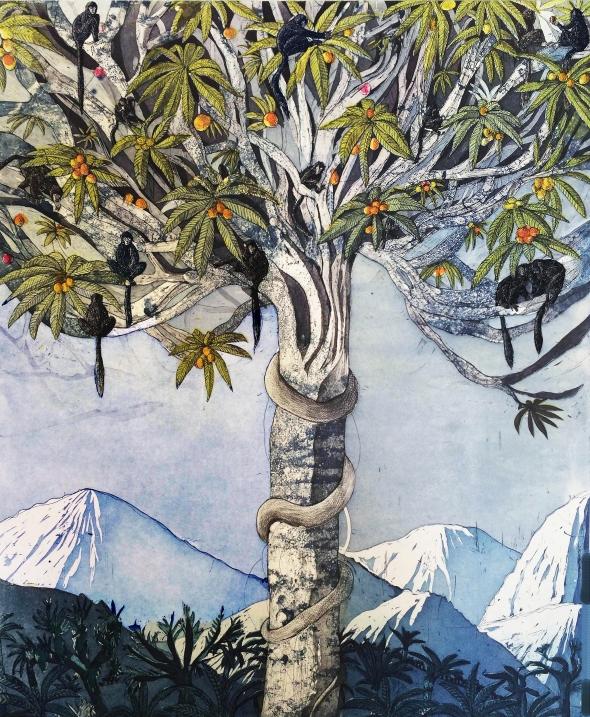 Duetto Kutsari, Paradise lost, etsaus, 60 x 50 cm
