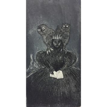 Hollow Crown V, etching & aquatint, 20 x 15 cm
