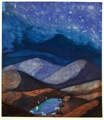 Mirroring the Night, etching & aqatint, 80 x 70 cm
