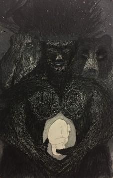 Trollmor, , etching & aquatint, 20 x 15 cm