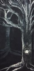 Forrest born, etching 35v x 70 cm